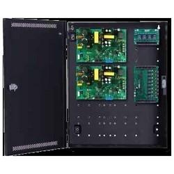 "Access Control Power System, Standard, 12 Ampere 12 Volt DC/6 Ampere 24 Volt DC, 150/250 Watt, 8-Door, 8-Lock, 8 Auxiliary, 20"" Width x 4.5"" Depth x 16"" Height"
