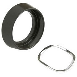 """Cylinder Guard, Standard, Free-Spinning, Tapered Cone, 1-3/4"""" Diameter x 1/2"""" Height, Steel, Duranodic Powder Coated, 5 each per Pack"""