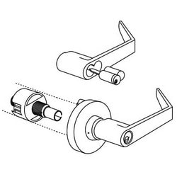 Exit Device Trim, Solid Cast Zamac Lever, Thru-Bolted/Spring Loaded Rose, ANSI F75, Satin Chrome, For Passage
