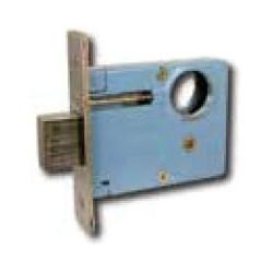 """Mortise Door Lockset, Left Hand Reverse, Keyed Single Cylinder, 2-1/2"""" Backset, ANSI F21, Clear Coated Polished Brass, With Deadbolt, For Entrance"""