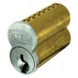 Interchangeable Core Cylinder, Small Format, Uncombinated, 6-Pin, Standard R Keyway, Satin Chrome