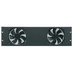 Essex Fan Panel, 138 CFM, 3 RU fan panel includes 2, quiet, energy-efficient DC fans