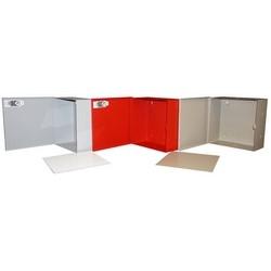 "Electrical Enclosure, Indoor, NEMA 1, 12"" Width x 5.5"" Depth x 12"" Height, Metal, Beige, With 10"" x 10"" Removable Beige Back Panel"