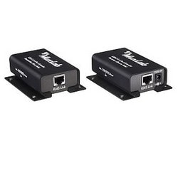 """UBS Extender Kit, 4-Port, 3.6"""" Length x 2.9"""" Width x 1.25"""" Height, Extruded Aluminum, With (1) Transmitter/Receiver Unit, (2) 5 Volt DC Power Adapter, Cat 5E/6 Cable, (3) LED"""