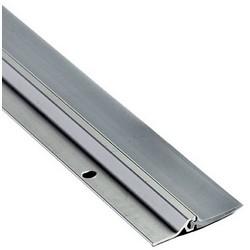 """Door Sweep, 144"""" Length x 1-7/8"""" Width, Vinyl, Anodized Aluminum, Gray"""
