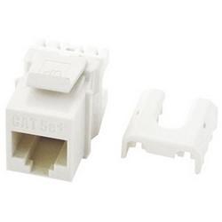 "Keystone Insert, Quick Connect, Cat 5E, RJ45, 8P8C Termination, 0.665"" Width x 1.18"" Depth x 0.87"" Height, High Impact Flame-Retardant Plastic, White, 100 each per Pack"