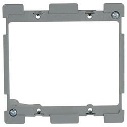"Retrofit Bracket, 2-Gang, Low Voltage, 4.2"" Width x 1.91"" Depth x 4.2"" Height, Metal Wing, Cast Alloy, With Quick/Click"