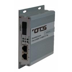 Ethernet Switch, Multimode, Card, 2-Port, Wall Mount, 10/100 Mbps, 1310 Nanometer, 12 Volt DC, 130 MM Width x 31 MM Depth x 111 MM Height, Aluminum Case