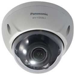 Network Camera, Vandalproof, Dome, Full HD, ICR, VMD, Day/Night, H.265/H.264/MJPEG, 1920 x 1080 Resolution, F1.4 Varifocal 2.7 to 12 MM Lens, 12 Volt DC, PoE, With IR LED