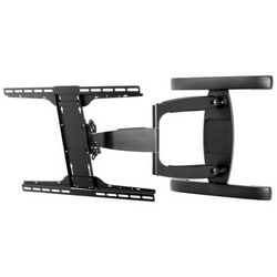 """Articulating Display Wall Arm, Non-Security Hardware, 39 to 75"""" Screen, 24.5"""" x 3.1-26.6"""" x 19.87"""", +15/-5 Degree Tilt, Semi-Gloss Black"""