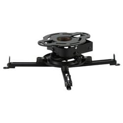 """Projector Mount, PRSS, Security Hardware, 4.79 to 17.63"""" Width x 4.79 to 17.63"""" Depth x 3.63 to 4.63"""" Height, +15/-20 Degree Tilt, Powder Coated, Black"""