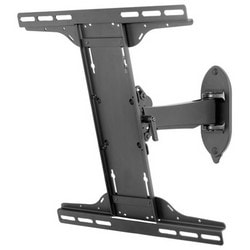 """Pivot Wall Mount, Non-Security Hardware, 80 Lb Load, 19.21"""" Width x 3.46 to 12.84"""" Depth x 16.75"""" Height, +/-5 Degree Tilt, High Gloss, Black, For 32 to 50"""" Display"""