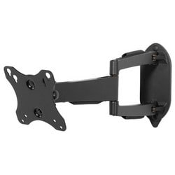 """Articulating Wall Mount, Non-Security Hardware, 25 Lb Load, 10.01"""" Width x 2.77 to 16.99"""" Depth x 8.06"""" Height, High Gloss, Black, For 10 to 29"""" Display"""