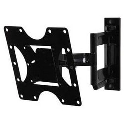 """Articulating Wall Mount, Non-Security Hardware, 80 Lb Load, 9.4"""" Width x 2.8 to 14.91"""" Depth x 8.74"""" Height, High Gloss, Black, For 22 to 43"""" Display"""