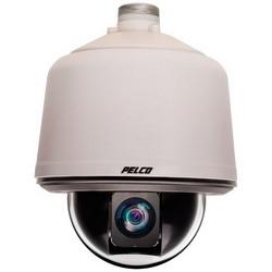 Network Camera, IP, PTZ Dome, Environmental, Pendant Mount, 2 Megapixel HD 20X, 4.7 to 94 MM Lens, 24 Volt AC/DC, Aluminum, Clear Nylon Bubble, Gray Back Box, Low Light