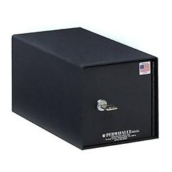 "Guest Room Safe Deposit Box, Horizontal, 6"" Width x 7-1/2"" Depth x 6"" Height, Heavy Gauge Steel, Durable Powder Coated Black Enamel, With (2) Key Security Lock"