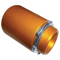 """Terminal Adapter, With Lock Ring, For 2"""" HDPE Riser/Plenum Duct"""