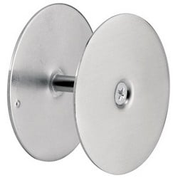 "Door Hole Cover Plate, 2-5/8"" Diameter, Heavy Gauge Steel, Satin Nickel, For 1-3/4"" Thickness Door, Maintain Entry Security, 1/2 to 2-1/8"" Hole"