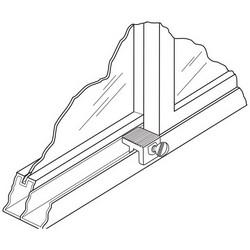 Window Lock, Sash, Heavy Duty, Zinc Die-Cast Housing, Steel Thumbscrew, Black, 2 each per Card