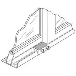 Door Lock, Double Thumbscrew, Heavy Duty Zinc Die-Cast Housing, Steel Thumbscrew, Aluminum