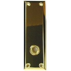 "Lock Knob Bearing, 2-1/4"" Width x 7"" Length, Solid Brass, Polished Brass"