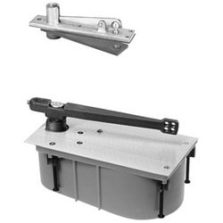 Floor Closer, Heavy Duty, Center Hung, Single Acting 105 Degree Swing, Selective Hold Open, Right Hand, With Closer Body, For Exterior/Interior Door