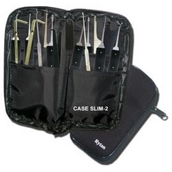 Locksmith Tool, Professional, Type-4, 16-Piece Set, With Larger Zipper Case