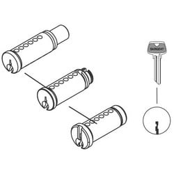 Cylinder Plug and Pin Assembly, LG Keyway, Satin Nickel Clear Coated, For 7/8/9 Series Line Cylindrical Lever Lock