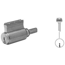 Door Lock Cylinder, LE Keyway, Satin Nickel, For 10/8/7/6500 Bored/Auxiliary/Integra/Mail Box Lock