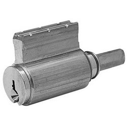 Door Lock Cylinder, RA Keyway, Satin Nickel, For 10/8/7/6500 Bored/Auxiliary/Integra/Mail Box Lock
