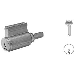 Door Lock Cylinder, LG Keyway, Satin Nickel, For 10/8/7/6500 Bored/Auxiliary/Integra/Mail Box Lock