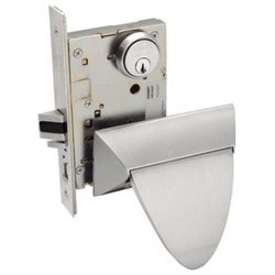 """Mortise Door Lock, Right Hand, 2-3/4"""" Backset, Stainless Steel, With ALP Trim, For Bathroom"""