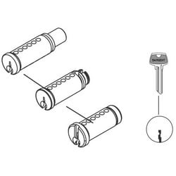 Cylinder Plug and Pin Assembly, LE Keyway, Satin Nickel Clear Coated, For 7/8/9 Series Line Cylindrical Lever Lock