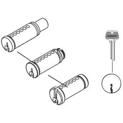 Rim Cylinder Lock Plug, 6-Pin, LK Keyway, Satin Nickel, For 34/7600 Series Rim Cylinder Lock