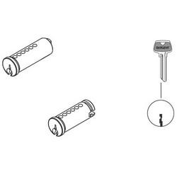 "Mortise Cylinder Lock Plug, 6-Pin, 1-1/8"" Length Cylinder, LL Keyway, Satin Nickel, For 41 Series Mortise Cylinder Lock"