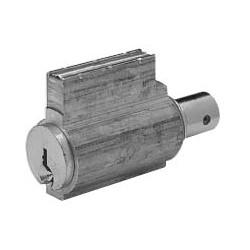 Knob Lock Cylinder, Single Bitted, RK Keyway, Satin Nickel, For 8/9-Line Cylinder Lock