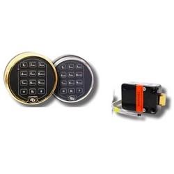 Safe Lock, Spring Bolt, 2 Battery Satin Chrome Keypad, Without Battery