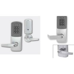Electronic Door Lock, Mortise Chassis, Proximity, Keypad, Right Hand, Athens Lever, 4AA Battery, Satin Chrome, Without 6-Pin FSIC Cylinder, For Class/Storeroom