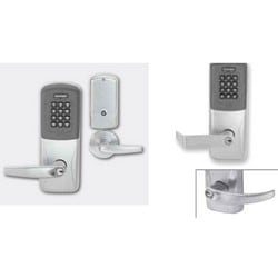 Electronic Door Lock, Mortise Chassis, Proximity, Keypad, Left Hand, C123 Keyway, Sparta Lever, 4AA Battery, Aged Bronze, For Class/Storeroom