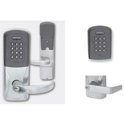 Electronic Door Lock, Cylindrical Chassis, Multi-Technology, Keypad, Right Hand, Rhodes Lever, Satin Chrome, Everest 29 Keyway, 8AA Battery Kit, For Class/Storeroom