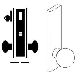 "Door Mortise Lock, Keyed, 2-3/4"" Depth Lever, 2-3/4"" Backset, Satin Chrome, With A Rose Trim/Deadbolt, Without Full Face Cylinder, For Closet/Storeroom"