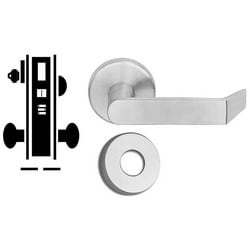 "Door Mortise Lock, Keyed, 2-1/2"" Depth Lever, 2-3/4"" Backset, Oil Rubbed Bronze, With A Rose Trim/Deadbolt, Without Full Face Cylinder, For Entrance/Office"