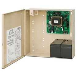 """Access Control Power Supply, 115 Volt AC, 800 Milliampere, 50/60 Hertz Input, 12/24 Volt DC, 1.5 Ampere, Class 2 Output, 12"""" Width x 6.5"""" Depth x 14"""" Height, Steel, With Cabinet"""