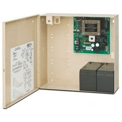 """Access Control Power Supply, 115 Volt AC, 800 Milliampere, 50/60 Hertz Input, 12/24 Volt DC, 2 Ampere, Class 2 Output, 12"""" Width x 4"""" Depth x 12"""" Height, Steel, With Cabinet"""