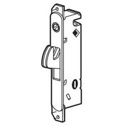 Sliding Door Mortise Lock, Round End Faceplate, Steel Housing/Hook, With Installation Fastener, For W and F Door Lock