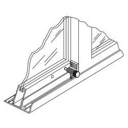 Sliding Door Lock, Twist-In, Zinc Plated/Painted Zamac Cast Housing, Aluminum, With Installation Screw, 1 per Card