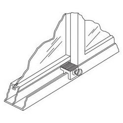 Window Sash Lock, Zinc Die-Cast Housing, Steel Thumbscrew, Mill, 250 each per Econbox