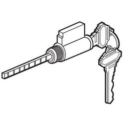 """Sliding Door Cylinder Lock, 5-Pin Tumbler, Keyed Different, Schlage Keyway, 5-Pin, 7/8"""" Length Cylinder, With (2) Key"""