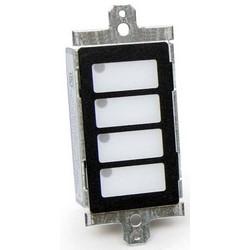 Annunciator Module, LED, 4-Zone, 27.2 Milliampere at 18 Volt, 50.5 Milliampere at 32 Volt, With Legend Slip Sheet/Mounting Hardware