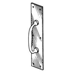 """Door Pull Plate, Contractor Quality, 3-1/2"""" Width x 15"""" Height, Aluminum"""